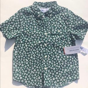 Old Navy- Boys printed button up